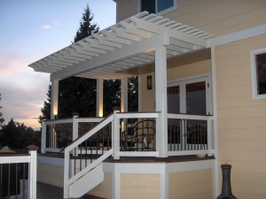 Finished Arbor after Exterior Painting