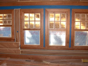 Solid Cherry Wood Windows and Trim